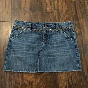 Denim Mini Skirt by X2 Denim Laboratory